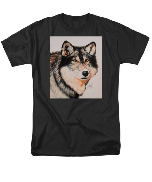Mexican Wolf Hybrid Men's T-Shirt  (Regular Fit) by Cheryl Poland