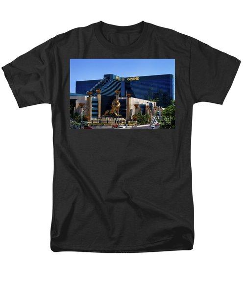 Mgm Grand Hotel Casino Men's T-Shirt  (Regular Fit) by Mariola Bitner