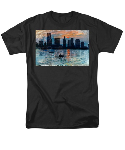 Miami Skyline 7 Men's T-Shirt  (Regular Fit) by Andrew Fare