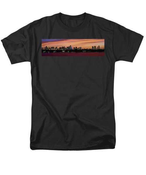 Miami Sunset Panorama Men's T-Shirt  (Regular Fit) by Gary Dean Mercer Clark
