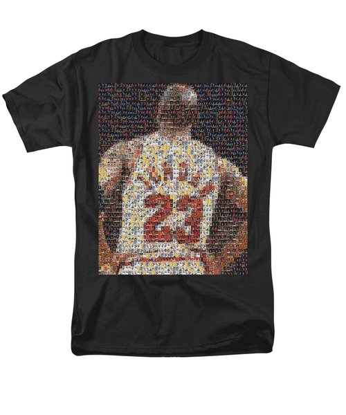 Michael Jordan Card Mosaic 2 Men's T-Shirt  (Regular Fit) by Paul Van Scott