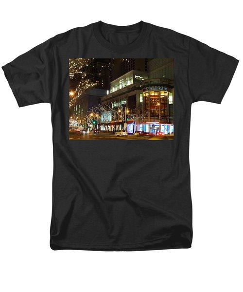 Michigan Avenue  Men's T-Shirt  (Regular Fit) by Elizabeth Coats
