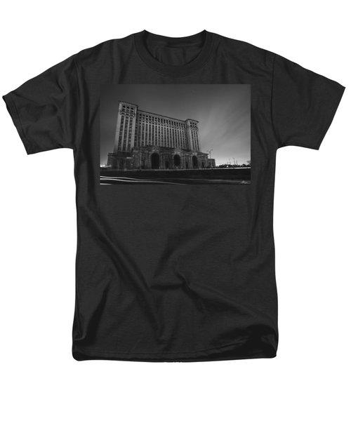 Michigan Central Station At Midnight Men's T-Shirt  (Regular Fit) by Gordon Dean II