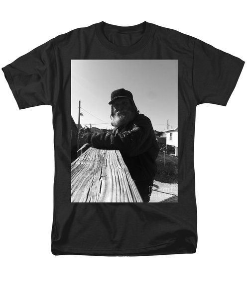 Mick Lives Across The Street Not In The Streets Men's T-Shirt  (Regular Fit)