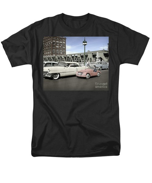Men's T-Shirt  (Regular Fit) featuring the photograph Micro Car And Cadillac by Martin Konopacki Restoration