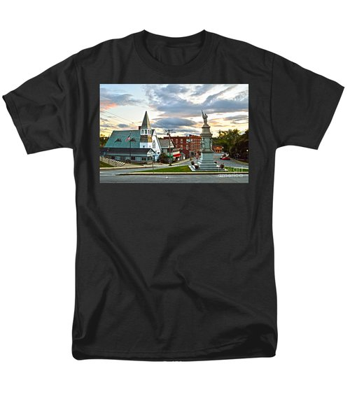 Middlebury Vermont At Sunset Men's T-Shirt  (Regular Fit) by Catherine Sherman
