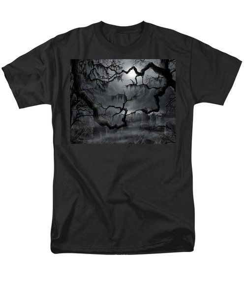 Midnight In The Graveyard II Men's T-Shirt  (Regular Fit) by James Christopher Hill