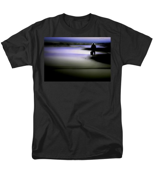 Men's T-Shirt  (Regular Fit) featuring the photograph Midnight Wanderer by Gray  Artus