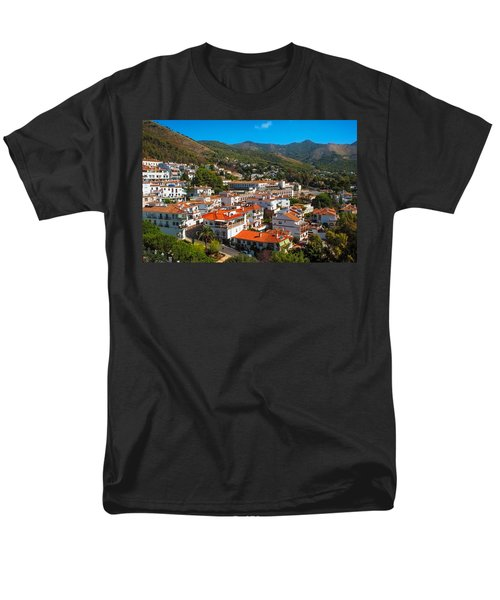 Men's T-Shirt  (Regular Fit) featuring the photograph Mijas Village In Spain by Jenny Rainbow