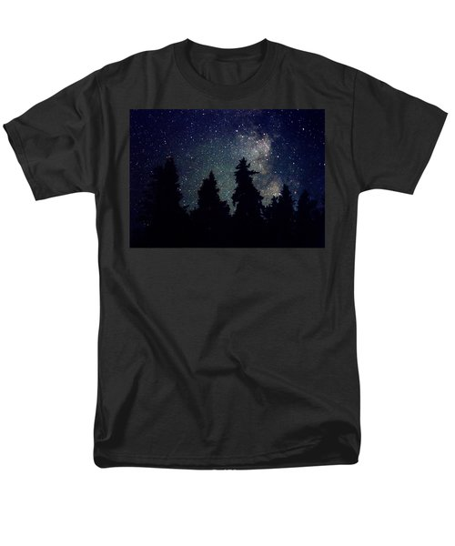 Men's T-Shirt  (Regular Fit) featuring the photograph Milky Way Above Northern Forest 22 by Lyle Crump