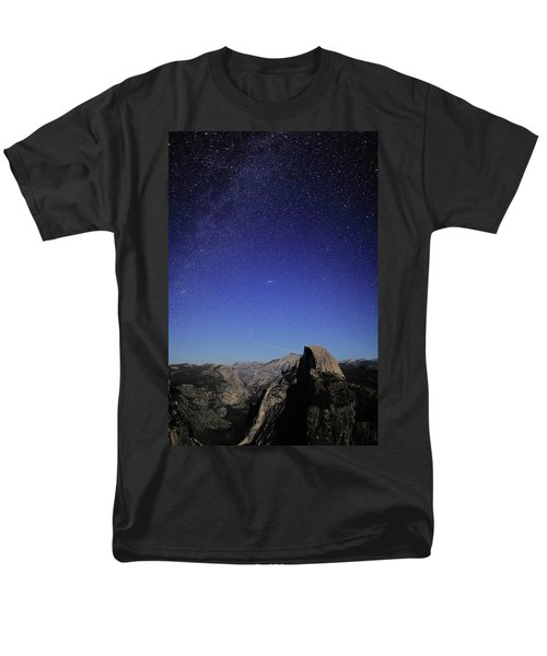 Milky Way Over Half Dome Men's T-Shirt  (Regular Fit)