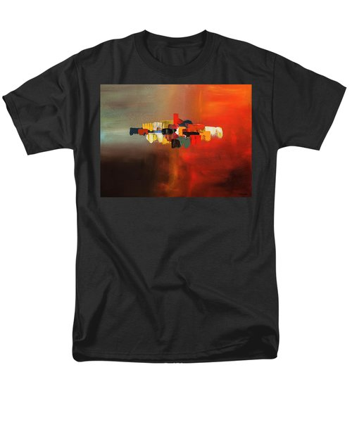 Men's T-Shirt  (Regular Fit) featuring the painting Mindful - Abstract Art by Carmen Guedez