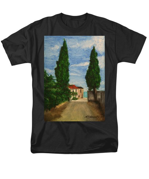 Men's T-Shirt  (Regular Fit) featuring the painting Mini Painting, Portugal by Marna Edwards Flavell