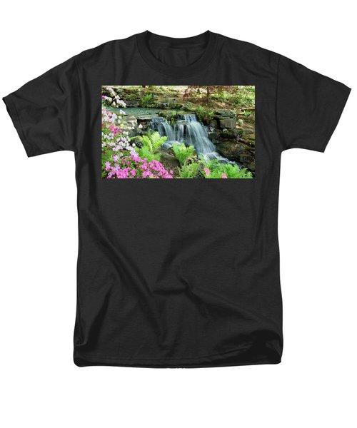 Men's T-Shirt  (Regular Fit) featuring the photograph Mini Waterfall by Sandy Keeton