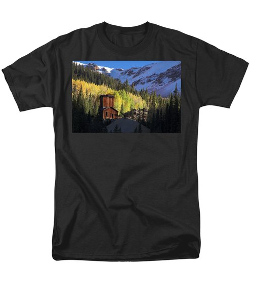 Men's T-Shirt  (Regular Fit) featuring the photograph Mining Ruins by Steve Stuller
