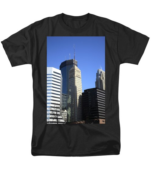 Men's T-Shirt  (Regular Fit) featuring the photograph Minneapolis Skyscrapers 12 by Frank Romeo