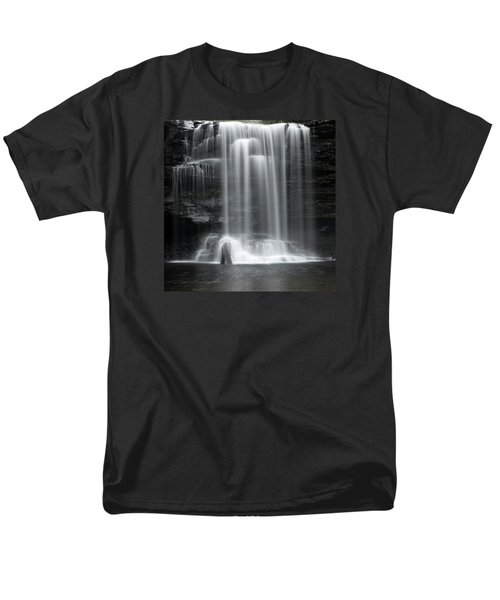 Misty Canyon Waterfall Men's T-Shirt  (Regular Fit) by John Stephens