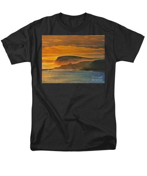 Misty Island Sunset Men's T-Shirt  (Regular Fit) by Blair Stuart