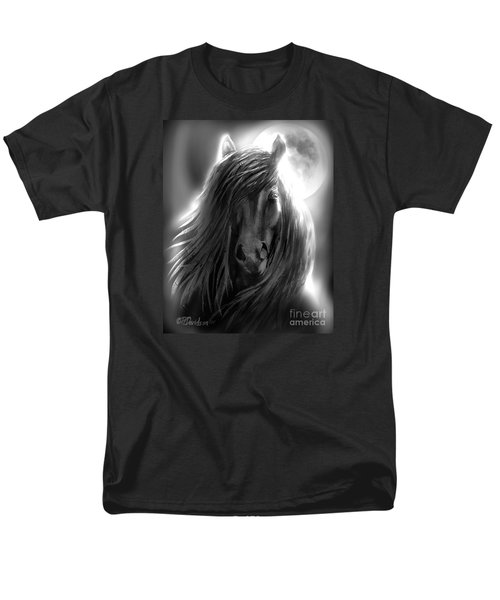 Men's T-Shirt  (Regular Fit) featuring the painting Misty Moonlight by Patricia L Davidson