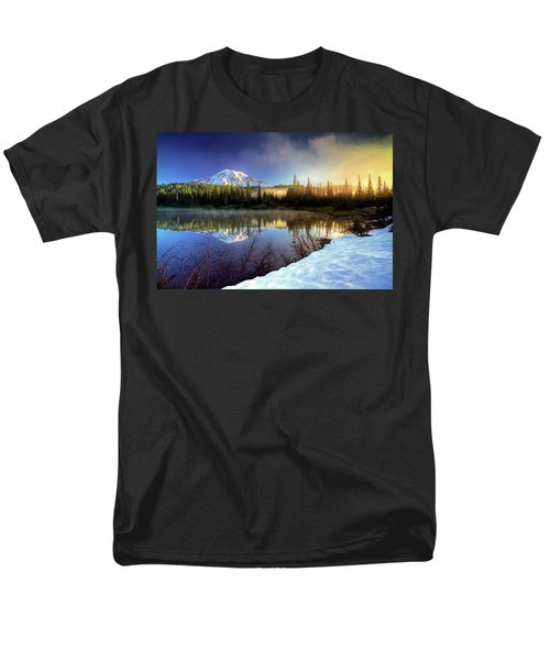 Men's T-Shirt  (Regular Fit) featuring the photograph Misty Morning Lake by William Lee