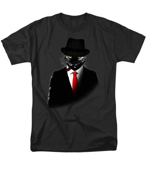 Mobster Cat Men's T-Shirt  (Regular Fit) by Nicklas Gustafsson