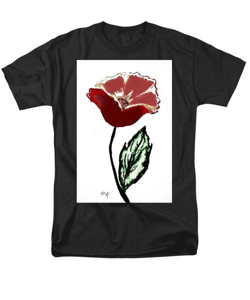 Men's T-Shirt  (Regular Fit) featuring the drawing Modernized Flower by Marsha Heiken