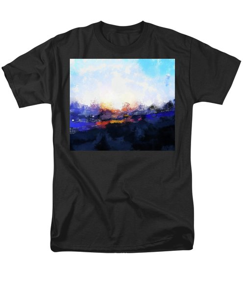 Moment In Blue Spaces Men's T-Shirt  (Regular Fit) by Cedric Hampton