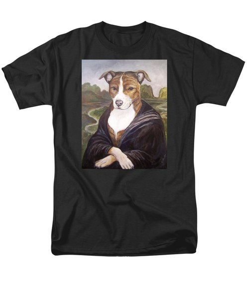 Men's T-Shirt  (Regular Fit) featuring the painting Mona Pitta by Laura Aceto