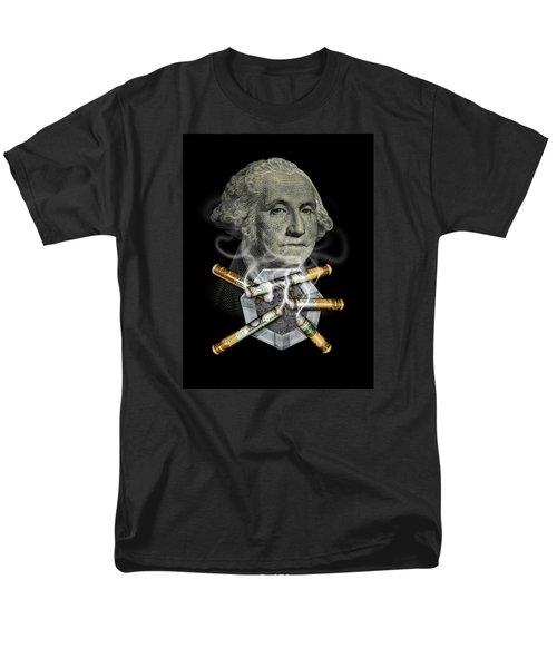 Money Up In Smoke Men's T-Shirt  (Regular Fit) by James Larkin