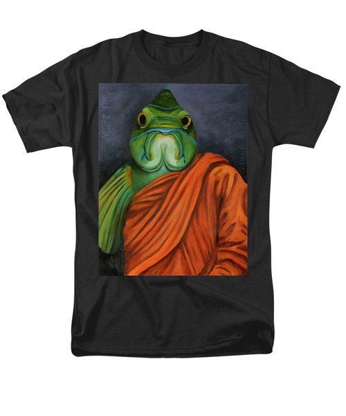 Men's T-Shirt  (Regular Fit) featuring the painting Monk Fish by Leah Saulnier The Painting Maniac