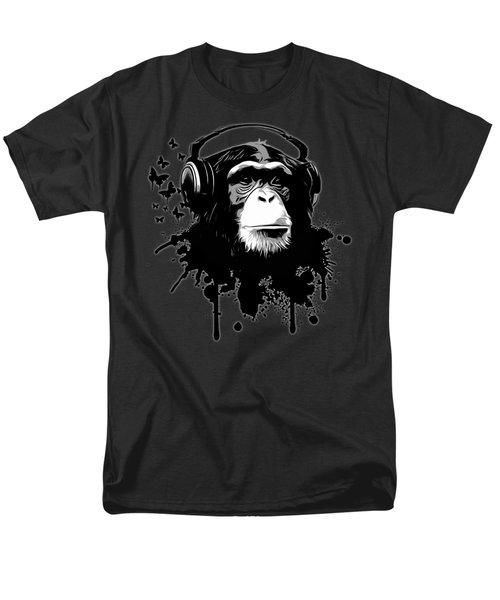 Monkey Business - Black Men's T-Shirt  (Regular Fit) by Nicklas Gustafsson