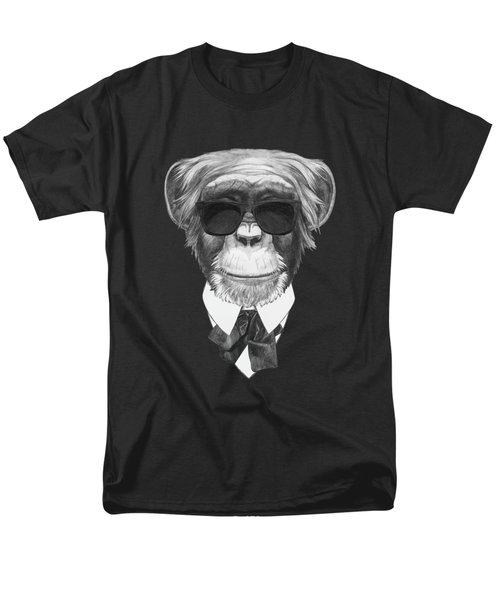 Monkey In Black Men's T-Shirt  (Regular Fit) by Marco Sousa