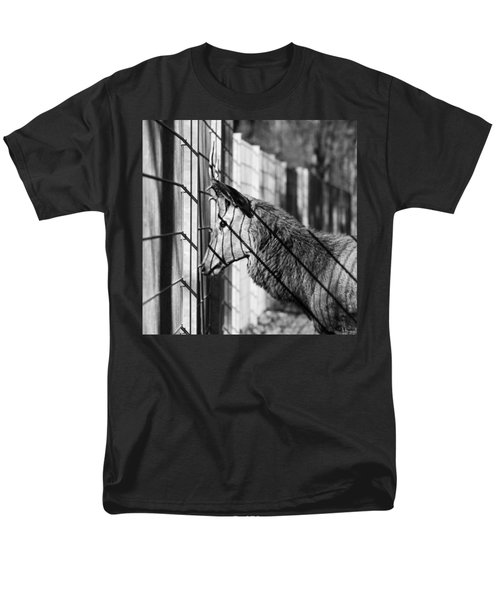 #monochrome #canon #cage #blackandwhite Men's T-Shirt  (Regular Fit) by Mandy Tabatt