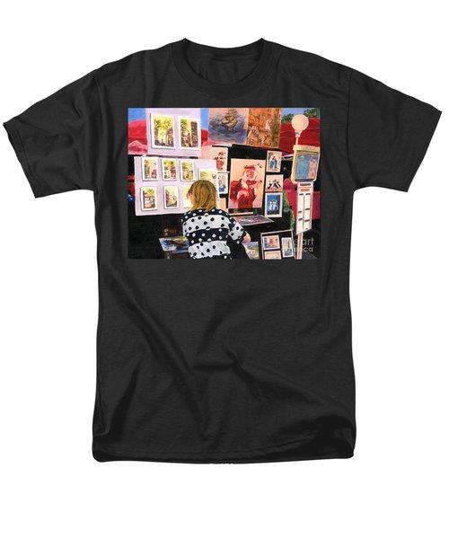 Montmartre Circa 1977 Men's T-Shirt  (Regular Fit) by Lynne Reichhart