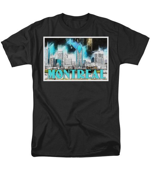 Men's T-Shirt  (Regular Fit) featuring the painting Montreal Lights by Kai Saarto