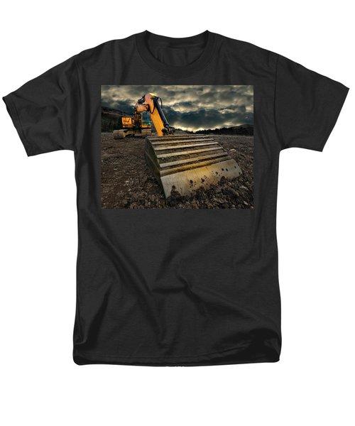 Moody Excavator Men's T-Shirt  (Regular Fit) by Meirion Matthias