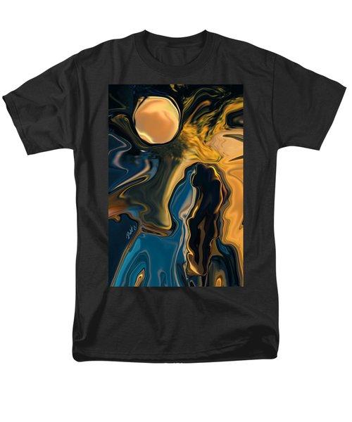 Moon And Fiance Men's T-Shirt  (Regular Fit) by Rabi Khan
