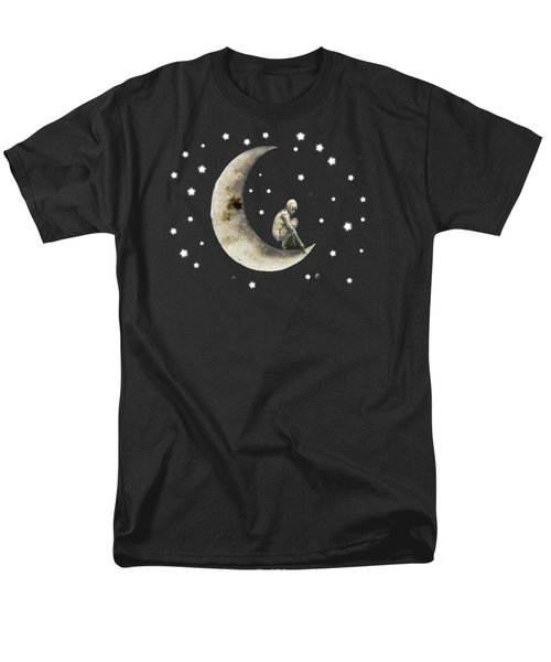 Moon And Stars T Shirt Design Men's T-Shirt  (Regular Fit) by Bellesouth Studio