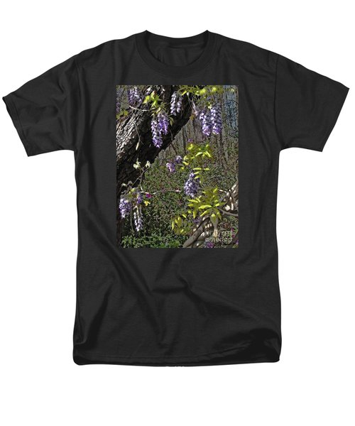 Men's T-Shirt  (Regular Fit) featuring the photograph Moon Glow Wisteria by Patricia L Davidson