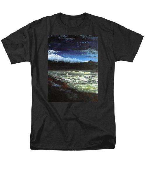 Moon Lit Sea Men's T-Shirt  (Regular Fit) by Dan Whittemore