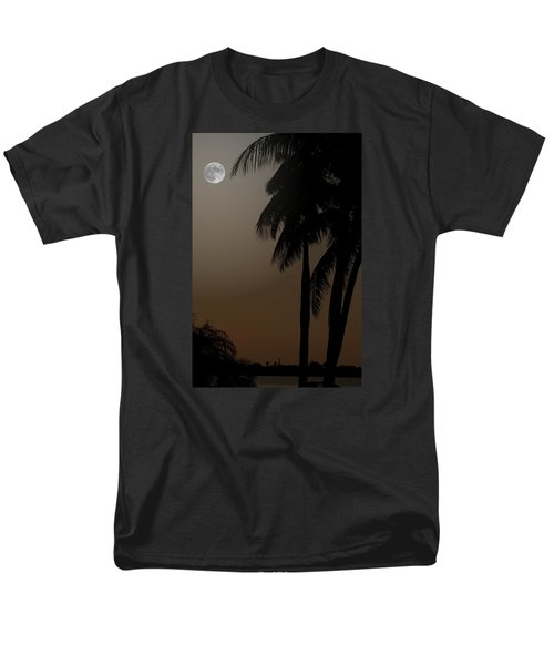Men's T-Shirt  (Regular Fit) featuring the photograph Moonlight And Palms by Diane Merkle