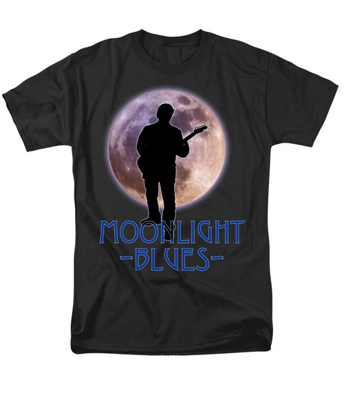 Men's T-Shirt  (Regular Fit) featuring the photograph Moonlight Blues Shirt by WB Johnston