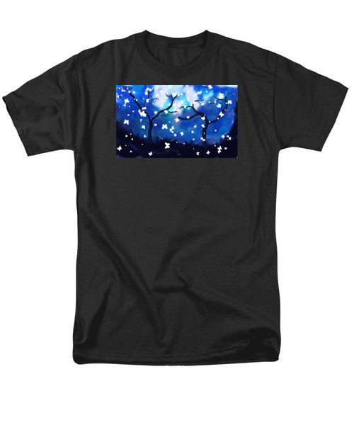 Men's T-Shirt  (Regular Fit) featuring the painting Moonlight Butterflies by Patricia Arroyo
