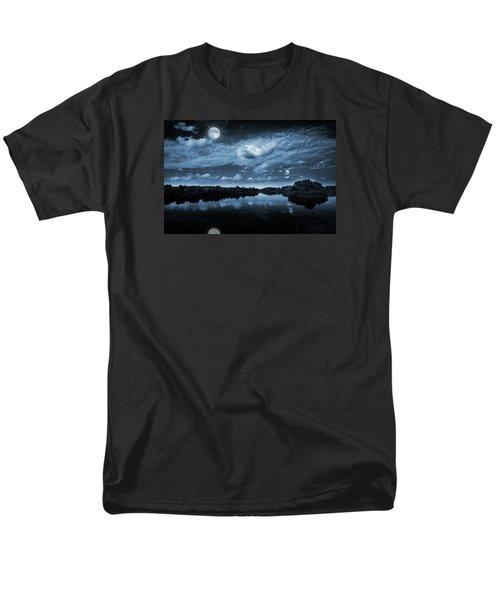 Moonlight Over A Lake Men's T-Shirt  (Regular Fit) by Jaroslaw Grudzinski