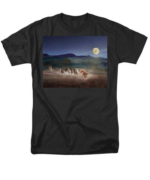 Moonlight Run Men's T-Shirt  (Regular Fit) by Melinda Hughes-Berland