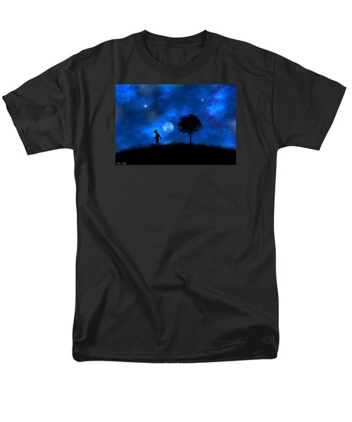 Men's T-Shirt  (Regular Fit) featuring the digital art Moonlight Shadow by Bernd Hau