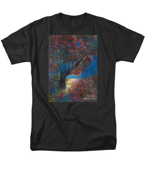 Moonlit Tree Men's T-Shirt  (Regular Fit) by Denise Hoag