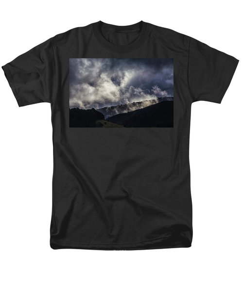 Morning Fog,mist And Cloud On The Moutain By The Sea In Californ Men's T-Shirt  (Regular Fit) by Jingjits Photography