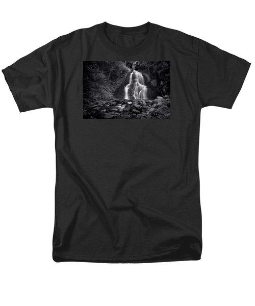 Moss Glen Falls - Monochrome Men's T-Shirt  (Regular Fit) by Stephen Stookey