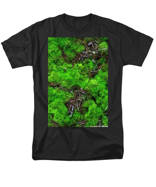 Men's T-Shirt  (Regular Fit) featuring the photograph Moss On The Hillside by Mike Eingle